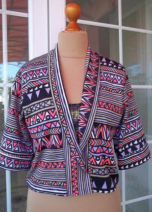 ( 44 р ) boohoo стрейчевый пиджак жакет оверсайз англия