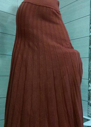 Теплая модная юбка-плиссе