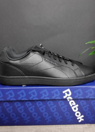 Reebok royal complete шикарные мужские кроссовки чёрные
