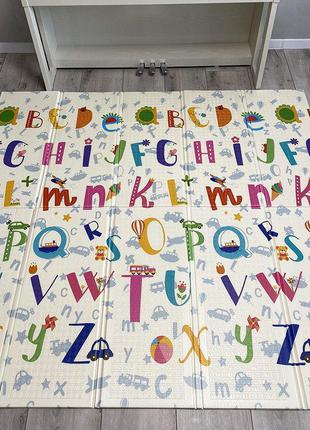 Детский развивающий термо коврик алфавит 150*180*1см