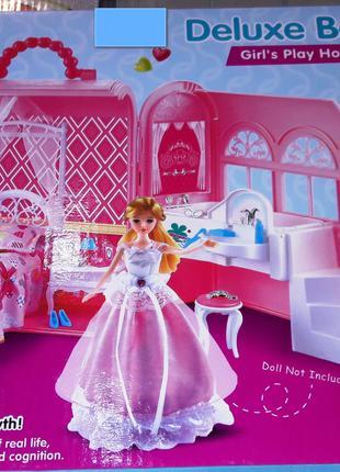 Кукольный домик для куклы Gloria 6988 игрушечная спальня мебель