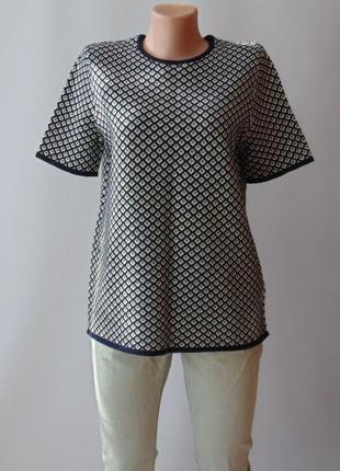 Теплый свитер футболка с шерстью  zara м
