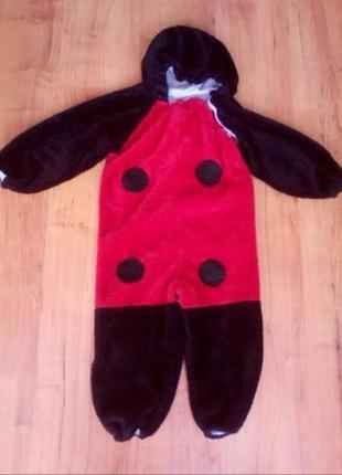Теплый комбинезон , костюм божья коровка на 4-6 лет