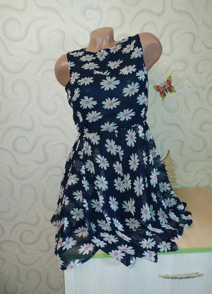 Красивое нежное платье в ромашки