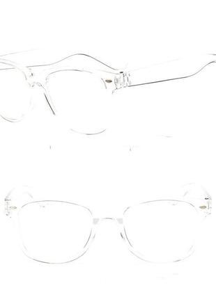 4-12 модные очки с прозрачной линзой