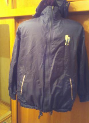 Куртка , ветровка, 2-х сторонняя, внутри флис.  cyrillus.