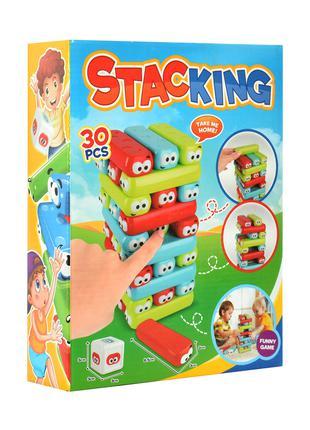 Настольная игра 8903 башня, блоки 30шт, в кор-ке, 20-26,5-6,5см