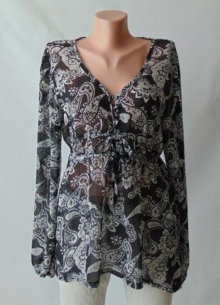 Прозрачная блузка л аnne parker