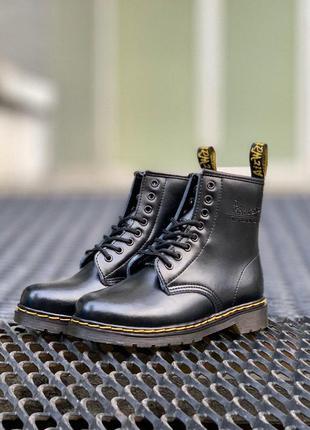 Ботинки dr. martens 1460 black мех