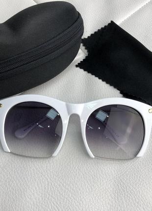 Очки солнцезащитные miu miu sunglasses rasoir square frame whi...