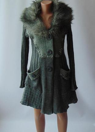 Вязаное пальто кардиган marina