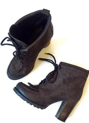Моднейшие ботильоны ботинки office london, натуральная кожа