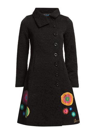 Пальто из жаккардовой ткани  desigual.