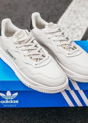Adidas sc primiera кожаные мужские кроссовки адидас белый цвет...