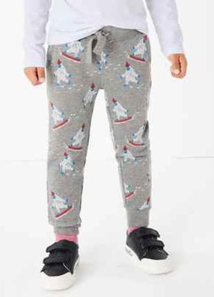 Стильные штаны на флисе, джоггеры для мальчика, marks&spencer,...