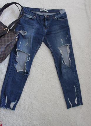Джинсы, синие джинсы, рванные джинсы,джинсы скини