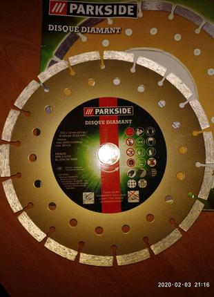 Диск, круг для болгарки алмазный Parkside, Германия, Ф 230мм