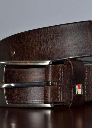 Ремень кожаный tommy hilfiger leather belt