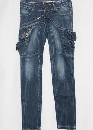 Стильные джинсы стрейч голифе синий