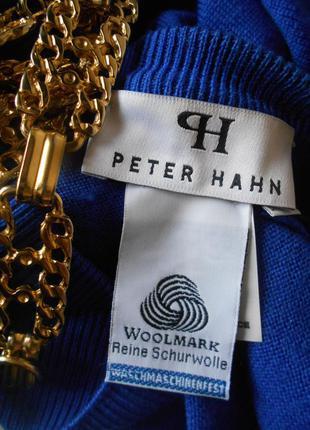 #peter hahn#woolmarks #шерстяная  базовая классическая кофта #