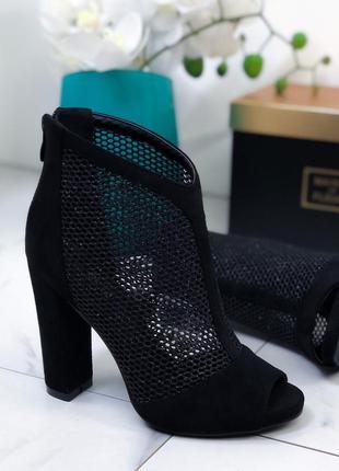 ❤ женские черные демисезонные весенние ботинки ❤
