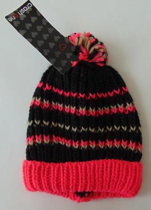Подростковая шапка takko fashion one young 8-15 лет