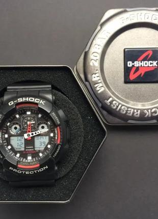 Оригинал, полный комплект наручные часы G-SHOCK CASIO GA-100-1A4E