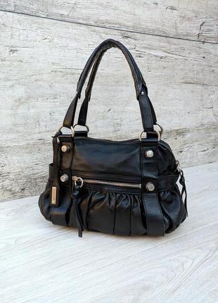 Abro вместительная кожаная сумка 100% натуральная очень мягкая...