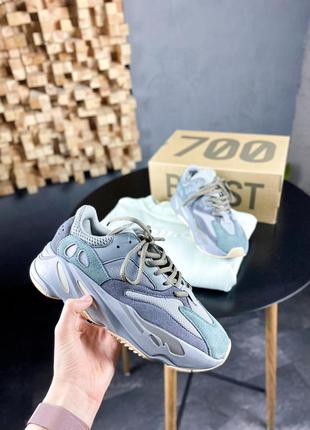 Adidas yeezy boost 700 teal blue шикарные мужские кроссовки ад...