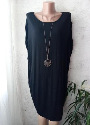 Платье кокон, туника, вискоза +эластан, италия