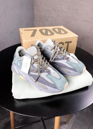 Adidas yeezy boost 700 teal blue  шикарные женские кроссовки а...