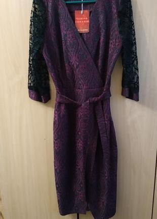 Шикарное праздничное платье с блестками
