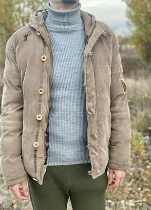 Мужская зимняя куртка пуховик теплая деми осень зима