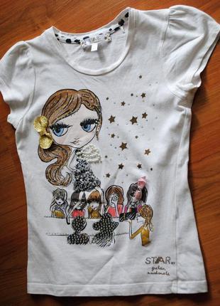 Дизайнерская футболка julien macdonald 6-7 лет