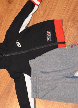 Спортивные штаны, утепленные jordan, на 12 мес