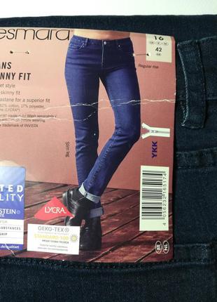 Джинсы скинни темно-синие 42 euro, skinny fit esmara, германия