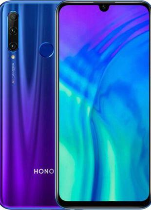 Смартфон Honor 20i 6/64Gb blue мобильный телефон с большим экр...
