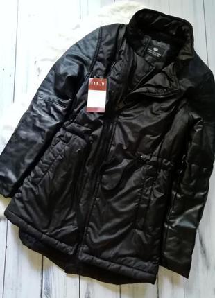 Парка на евро зиму, осень, весну, куртка с кожаными рукавами