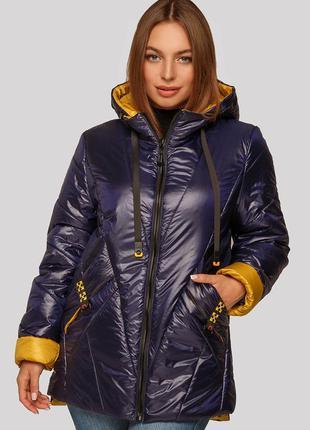 Легкая и красивая куртка с манжетами на весну