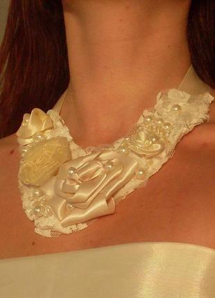 Эксклюзивное украшение для невесты ручной работы