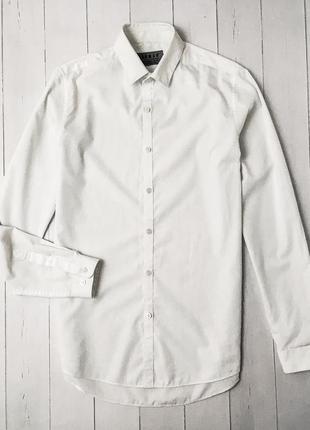 Мужская белая базовая рубашка topman. хорошее состояние