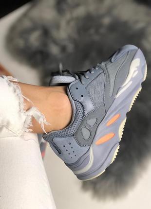 Adidas yeezy 700 inertia шикарные женские кроссовки адидас изи...