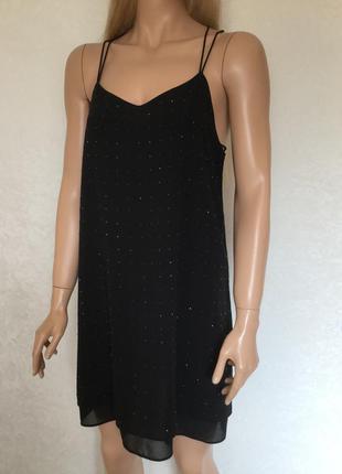 Платье вечернее на тонких бретельках new look размер 8