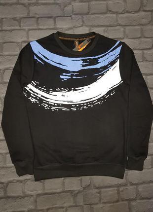 Стильный мужской свитшот бомбер свитер кофта