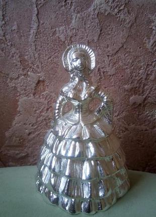 Антикварный бронзовый колокольчик (покрыт серебром)