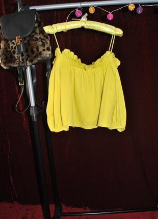 Яркий топ блуза zara