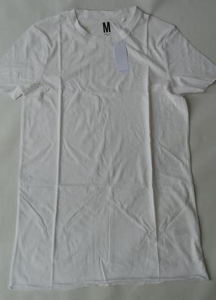 Удлиненная футболка basic longline longer length urban m