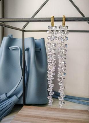 Серьги, сережки, вечерние серьги, серьги для невесты, кульчики