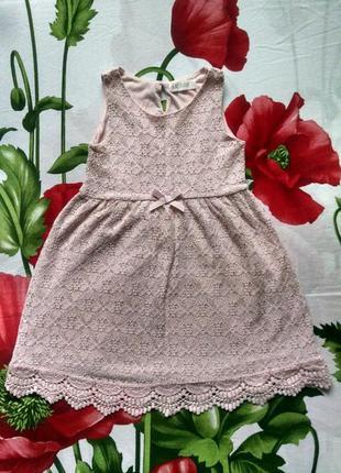 Нежное кружевное платье для девочки 4-6 лет.