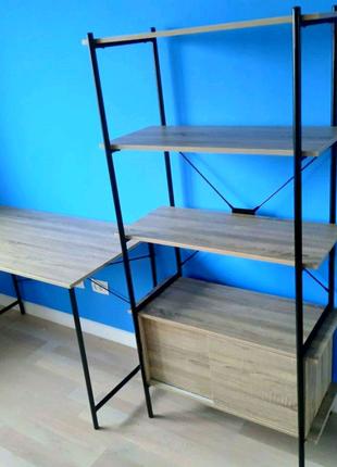 Стол и стеллаж в стиле лофт